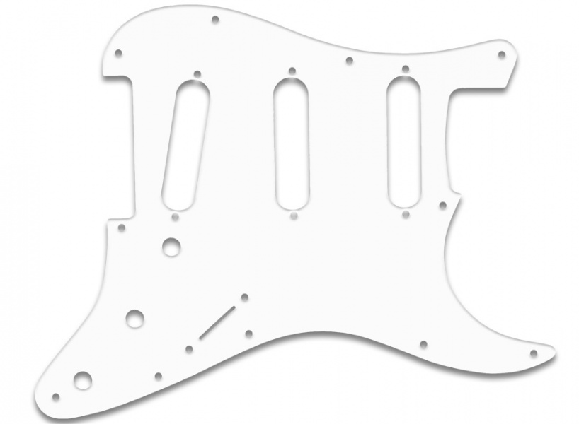 stratocaster sss fender old style 59-62 - hvit